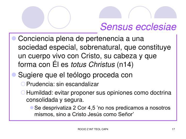Sensus ecclesiae