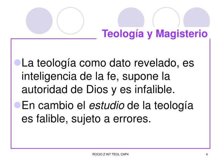 Teología y Magisterio