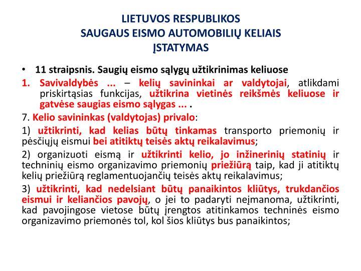 LIETUVOS RESPUBLIKOS