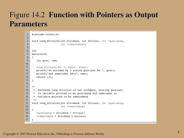 Figure 14 2 function with pointers as output parameters