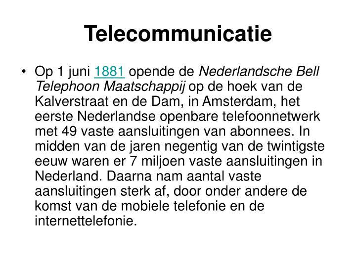 Telecommunicatie