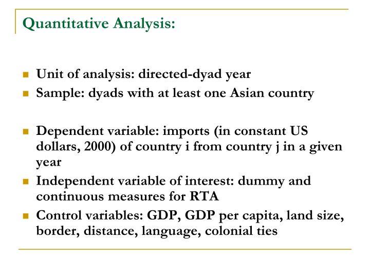 Quantitative Analysis: