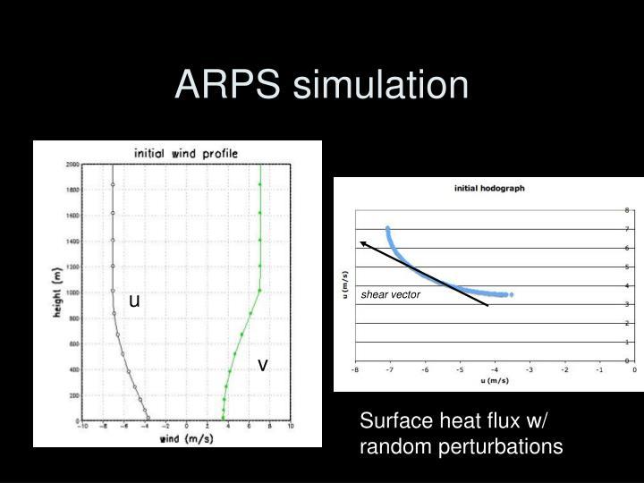 ARPS simulation