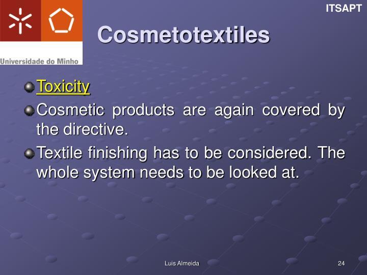 Cosmetotextiles
