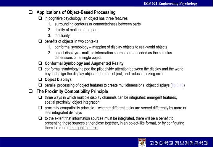 Applications of Object-Based Processing
