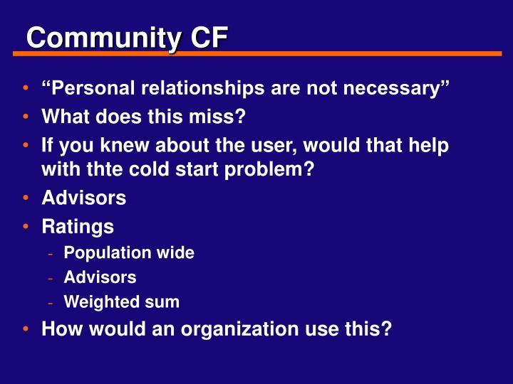 Community CF