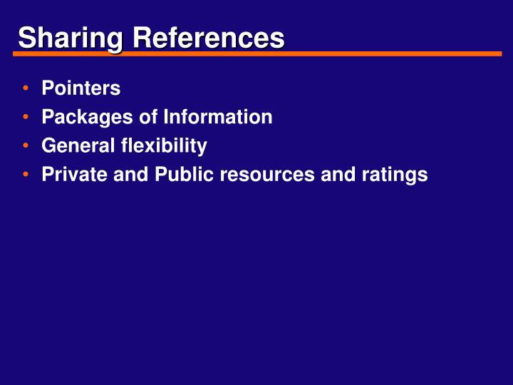 Sharing References