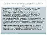 cadrul institu ional i competi ia politic1