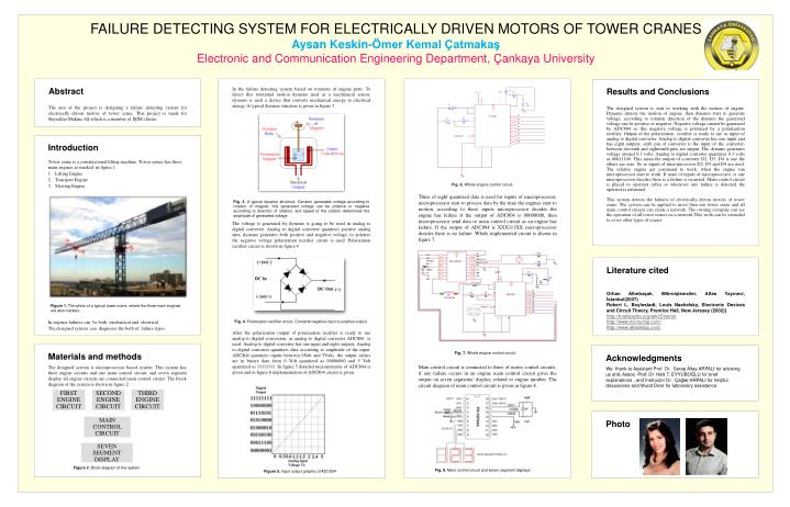FAILURE DETECTING SYSTEM FOR ELECTRICALLY DRIVEN MOTORS OF TOWER CRANES
