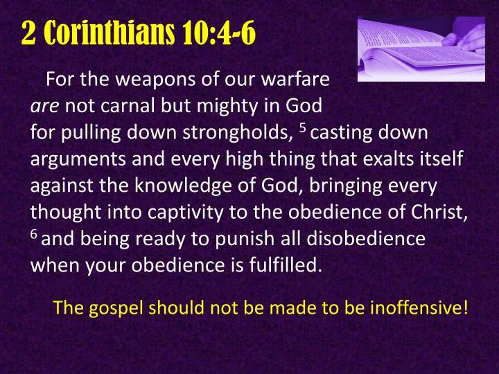 2 Corinthians 10:4-6