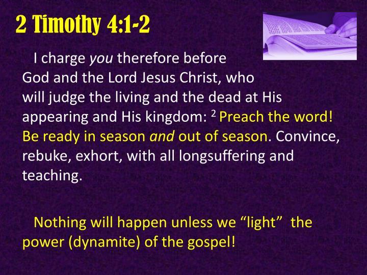 2 Timothy 4:1-2