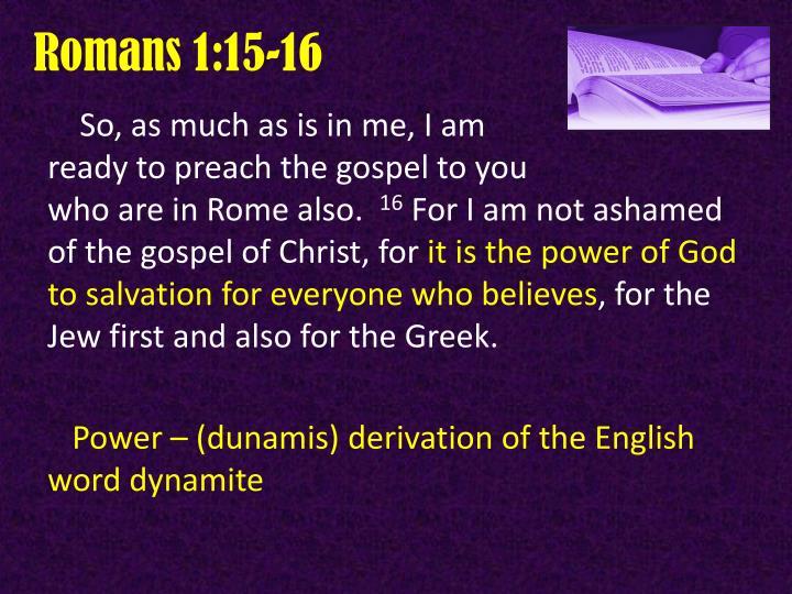 Romans 1:15-16