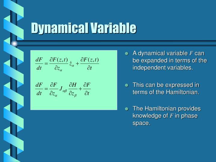 A dynamical variable