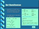 not hamiltonian