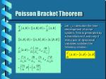 poisson bracket theorem