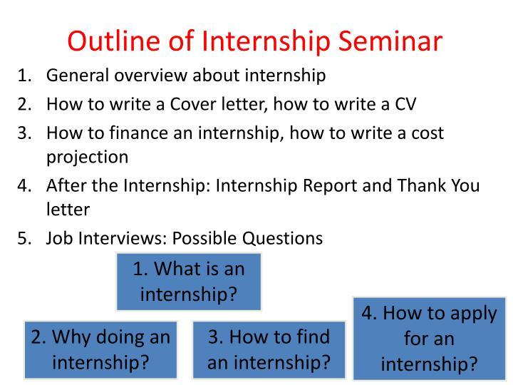 Outline of Internship Seminar