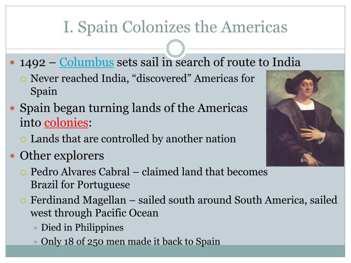 I spain colonizes the americas