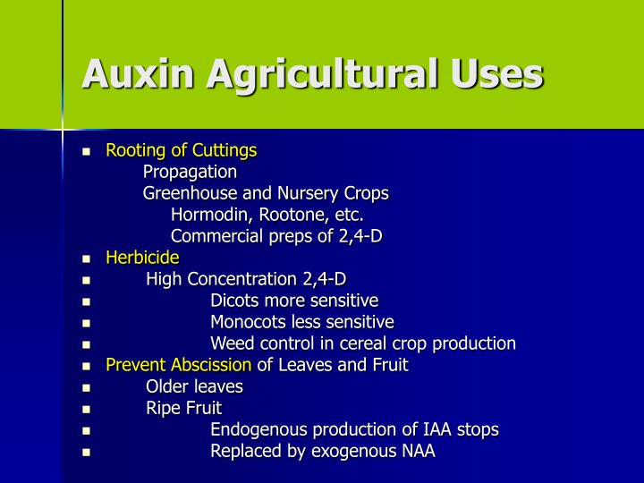 Auxin Agricultural Uses