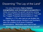 discerning the lay of the land1