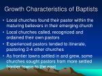 growth characteristics of baptists1