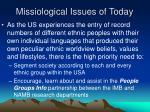 missiological issues of today7