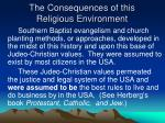 the consequences of this religious environment3