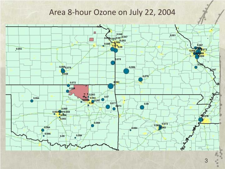Area 8-hour Ozone on July 22, 2004