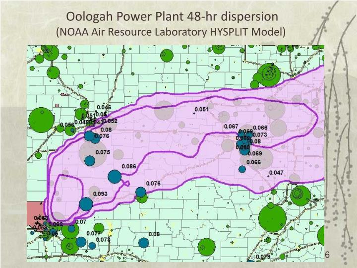 Oologah Power Plant 48-hr dispersion