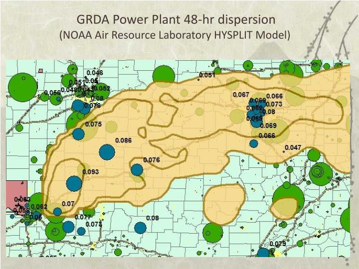 GRDA Power Plant 48-hr dispersion