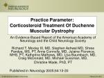 practice parameter corticosteroid treatment of duchenne muscular dystrophy