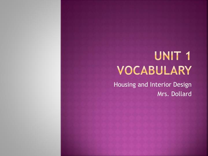 Unit 1 vocabulary