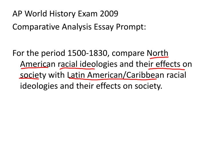 ap world history comparison essay prompts