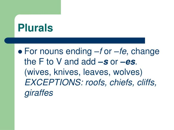 Ppt Spelling Rules And Plurals Powerpoint Presentation