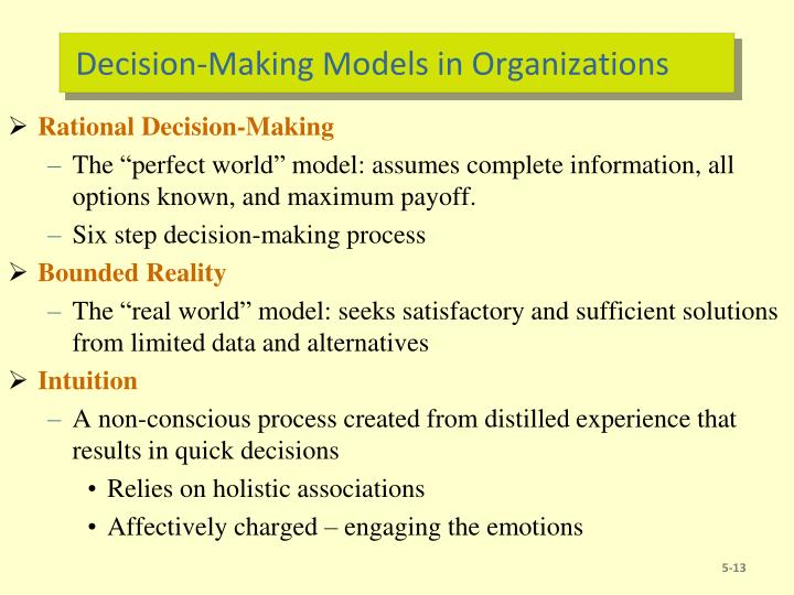 Decision-Making Models in Organizations