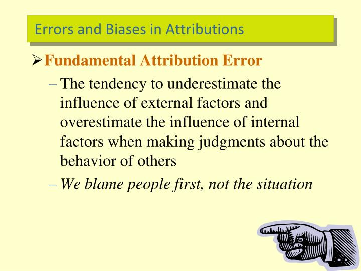 Errors and Biases in Attributions