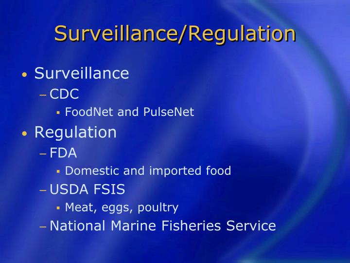 Surveillance/Regulation