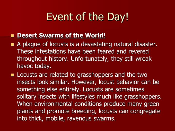 Event of the Day!