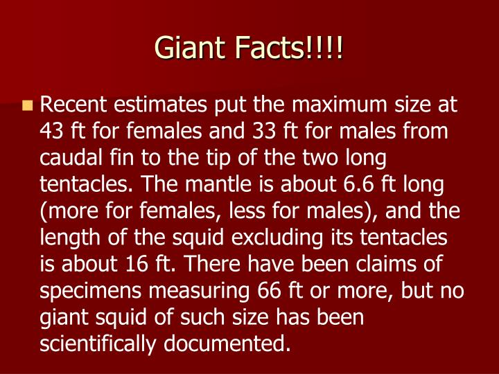 Giant Facts!!!!