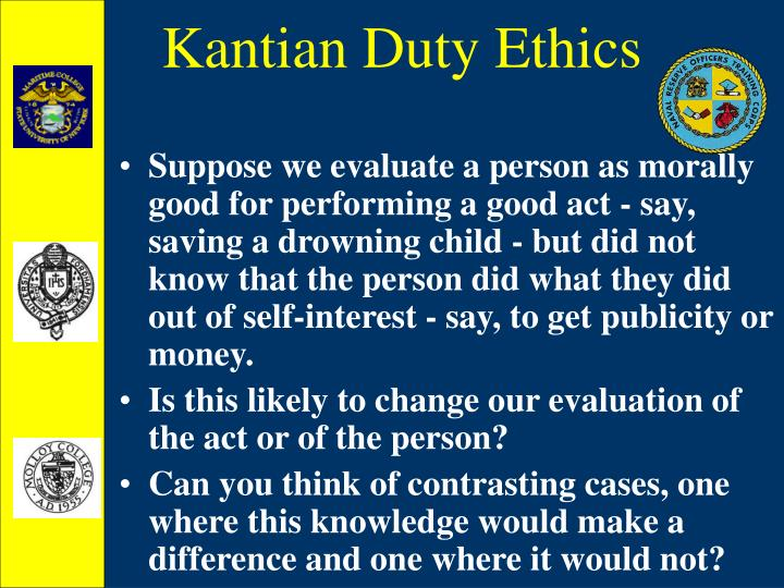 Kantian Duty Ethics