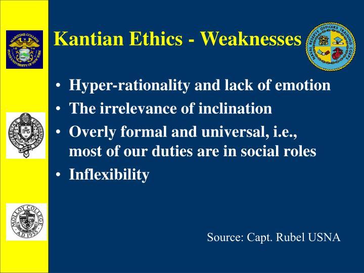 Kantian Ethics - Weaknesses