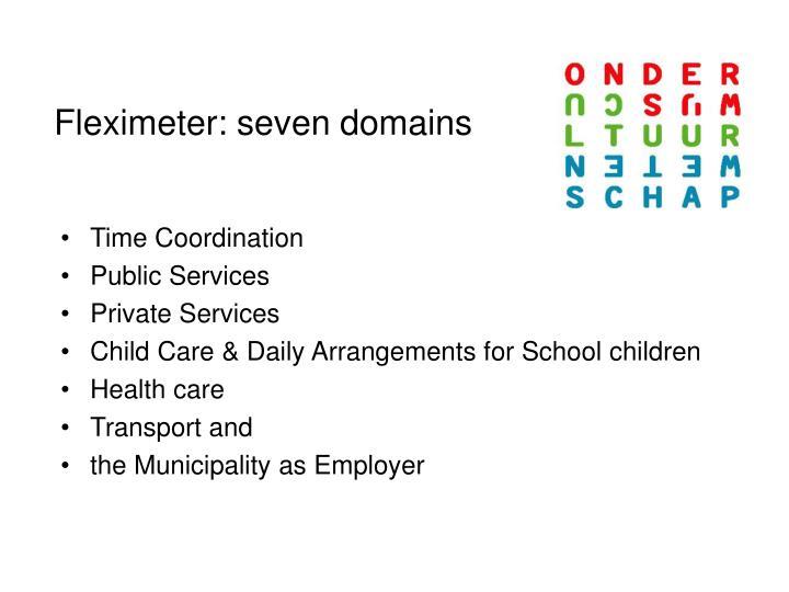 Fleximeter: seven domains