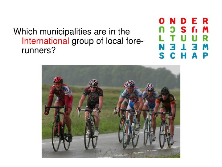Which municipalities are in the