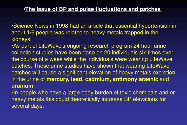 The Issue of BP and pulse fluctuations and patches