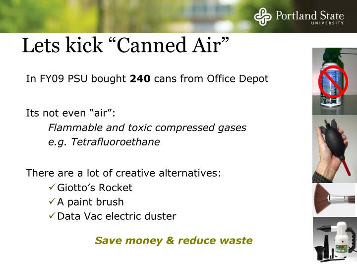 "Lets kick ""Canned Air"""