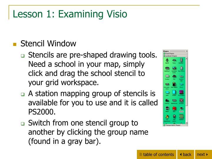 Lesson 1: Examining Visio