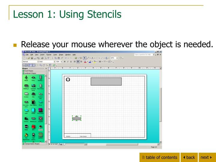 Lesson 1: Using Stencils