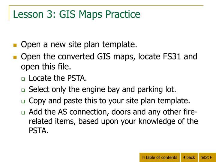 Lesson 3: GIS Maps Practice