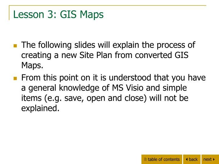 Lesson 3: GIS Maps
