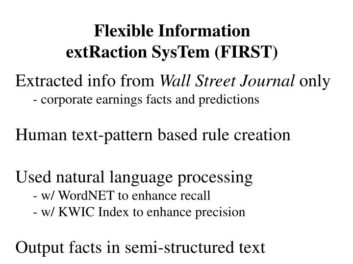 Flexible Information