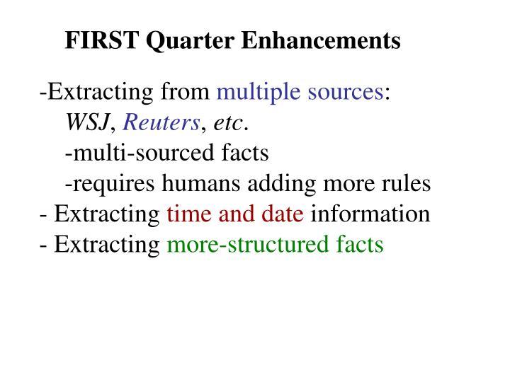 FIRST Quarter Enhancements